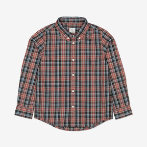 Kids Checked Shirt 1-6years Red Boy