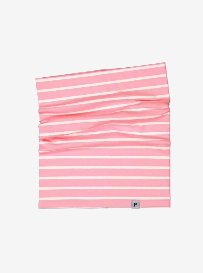 Kids Pink Striped Neckwarmer
