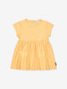 Girls Yellow Kids Heart Pocket GOTS Dress