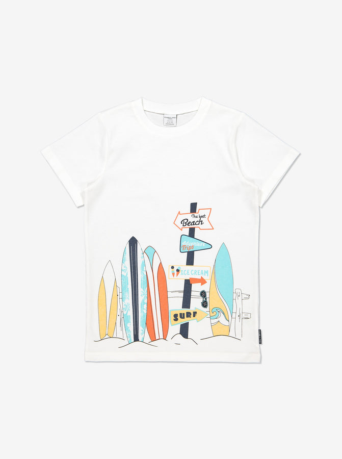 Boys White Kids GOTS Organic T Shirt