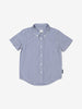 Boys Blue Kids Checked GOTS Organic Shirt