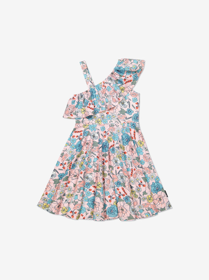 Girls Pink Kids Floral Dress