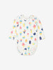 Unisex Natural Newborn Organic Cotton Ice Cream Babygrow