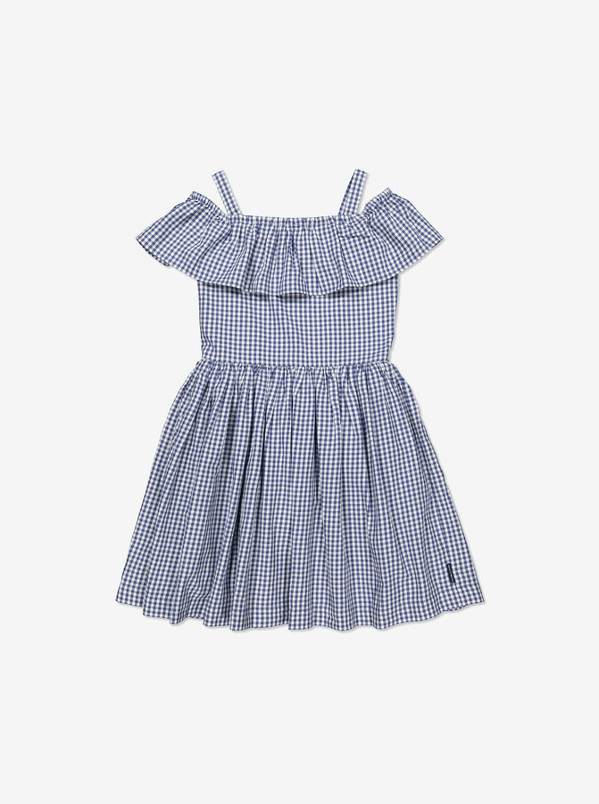 Girls Blue Kids Organic Cotton Summer Dress