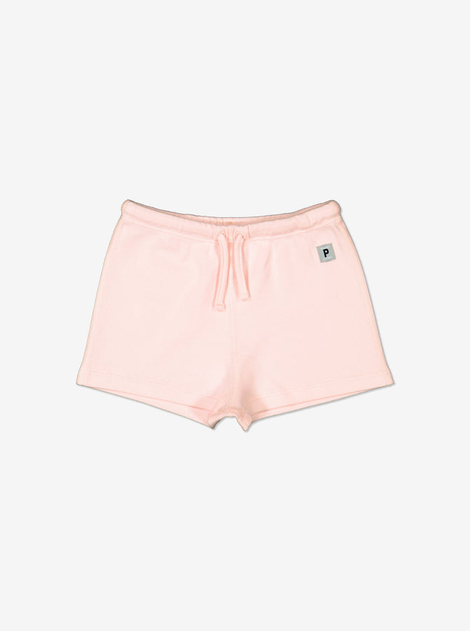 Girls Pink Soft Organic Cotton Newborn Baby Shorts