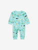 Boys Blue Gots Organic Seaside Print Baby All In One