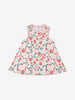 Girls Natural Meadow Print Newborn Baby Dress