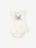 Girls Natural GOTS Organic Newborn Babygrow Dress