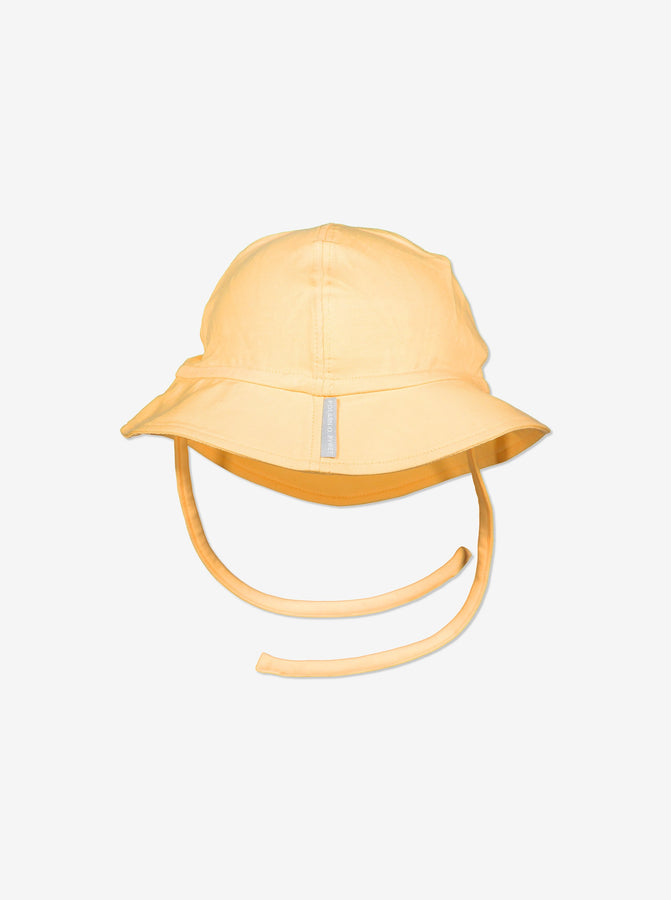 Unisex Yellow Baby UV Sun Hat