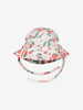 Girls Natural Strawberry Print Newborn Sunhat