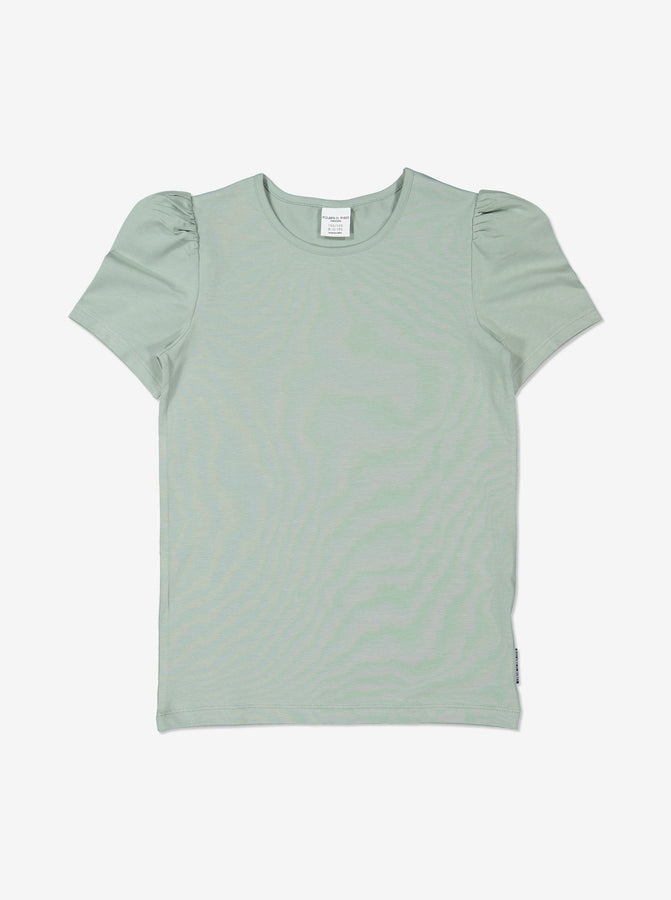 Girl Green Kids Puff Sleeve Top