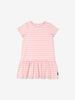 Girls Pink Kids Striped Organic Dress