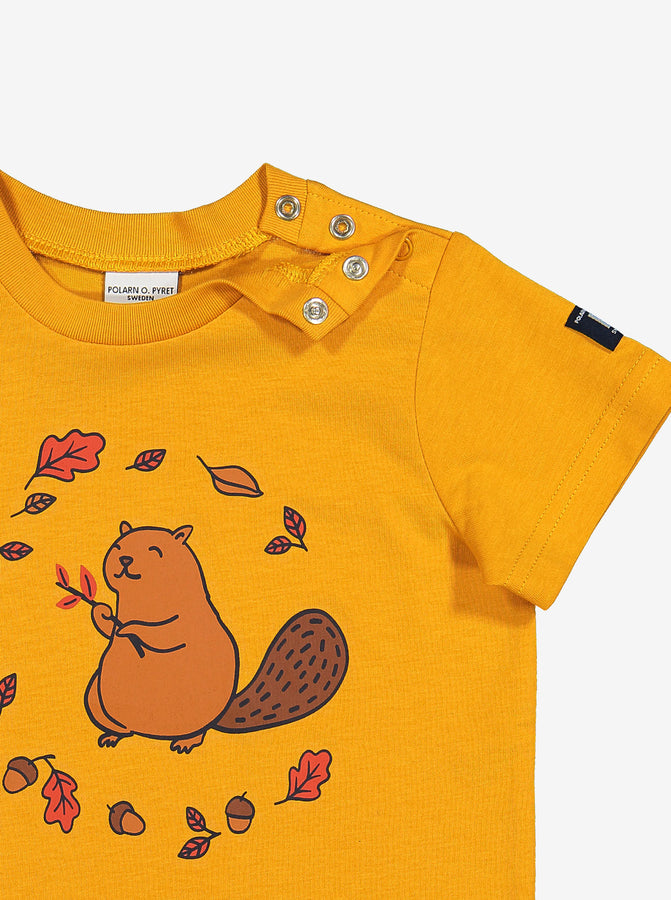Organic Kids T-Shirt Squirrel Print