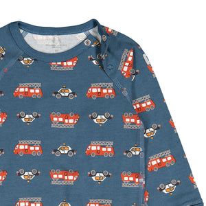 Vehicle Print Baby Bodysuit