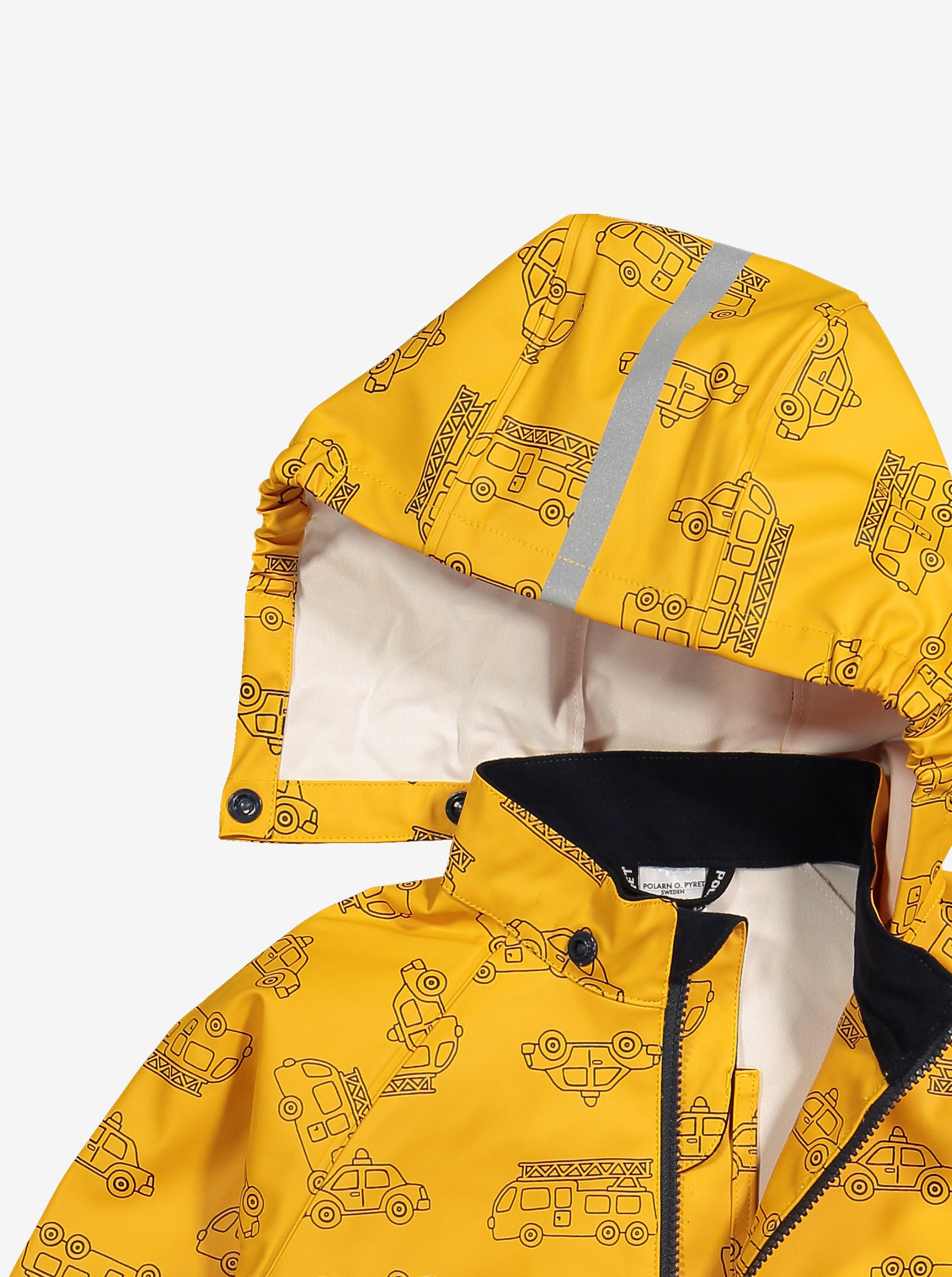 Vehicle Print Waterproof Kids Raincoat