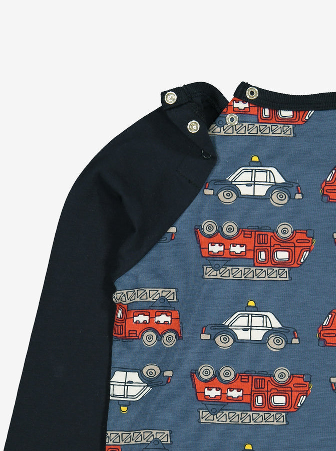 Vehicle Print Kids Top