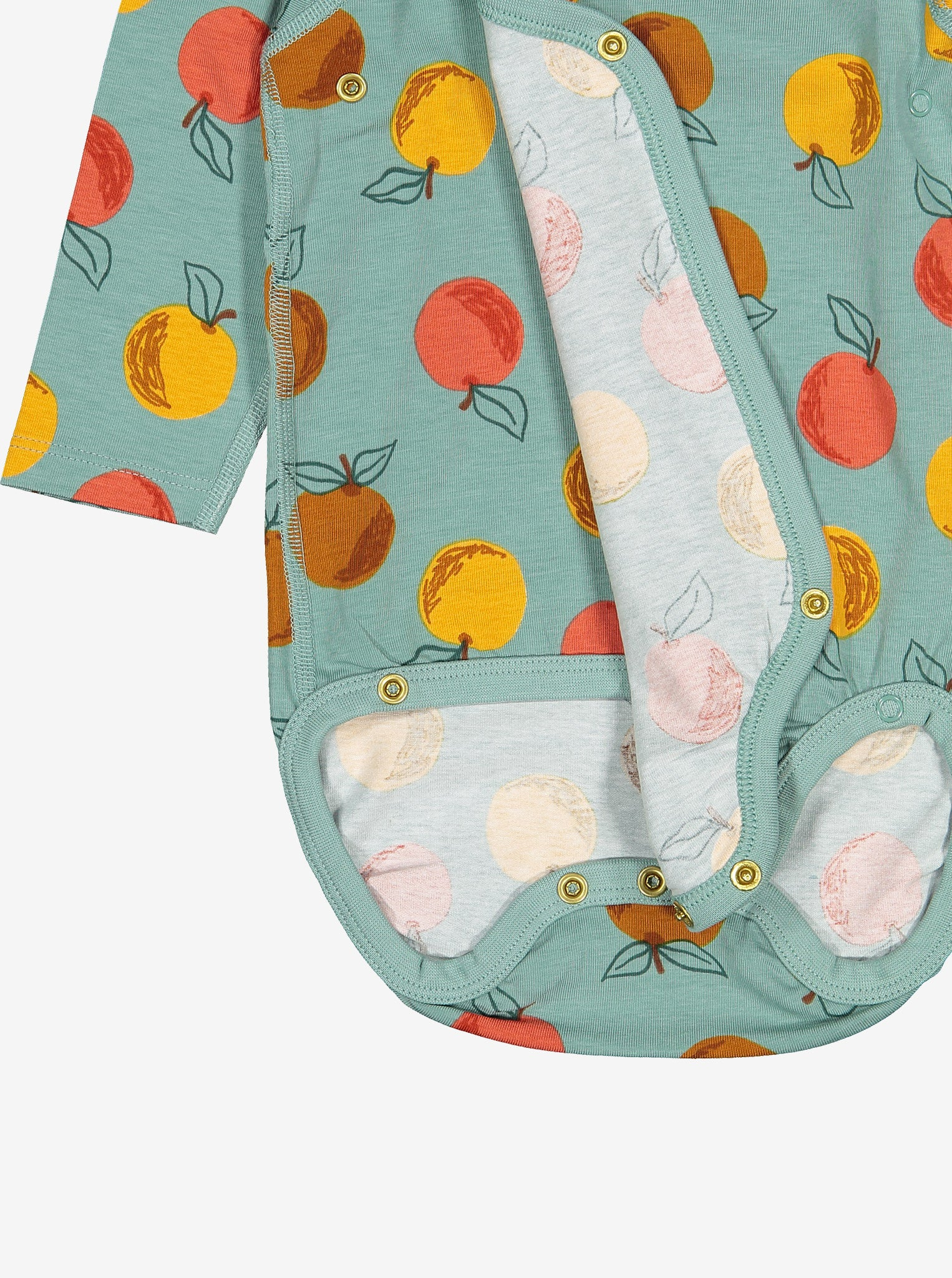 Apple Print Baby Bodysuit