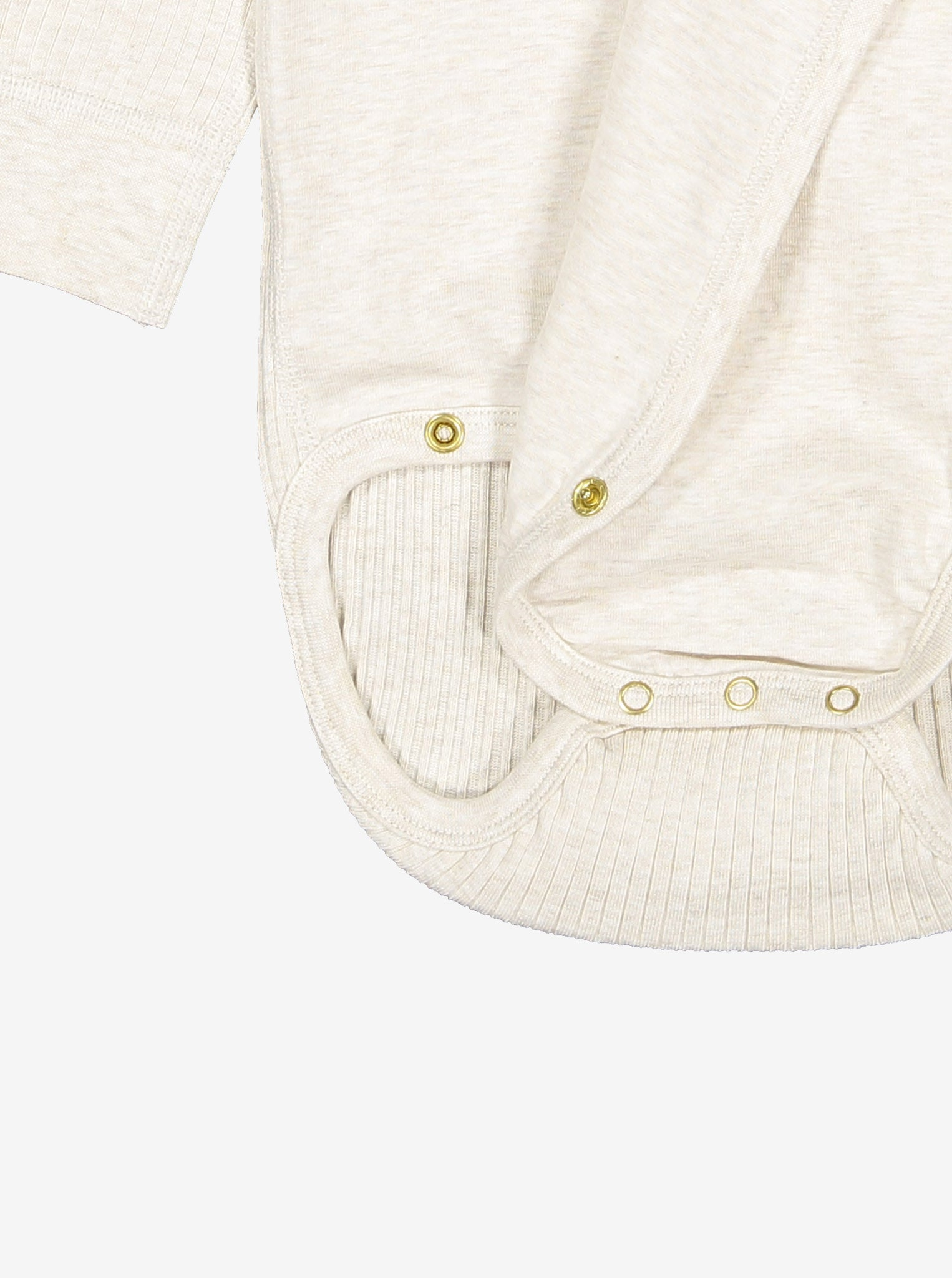 Ribbed Wraparound Baby Bodysuit