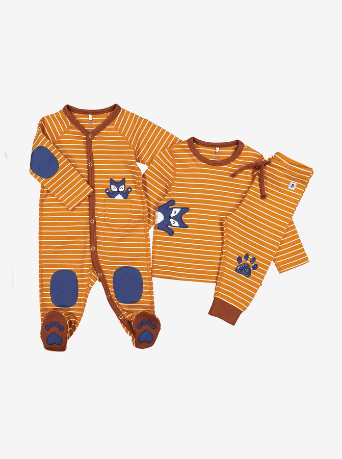 Fox Applique Baby Romper