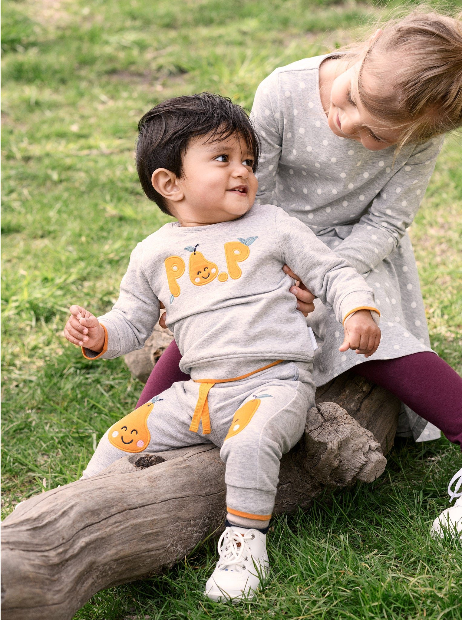 Pear Knee Patch Baby Trousers