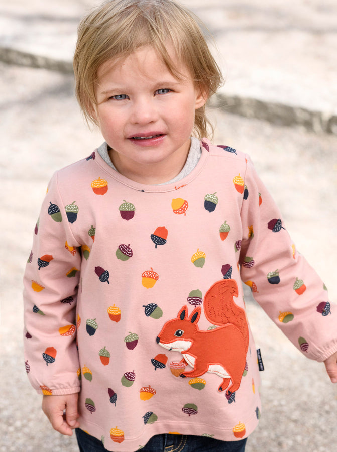 Squirrel Applique Kids Top