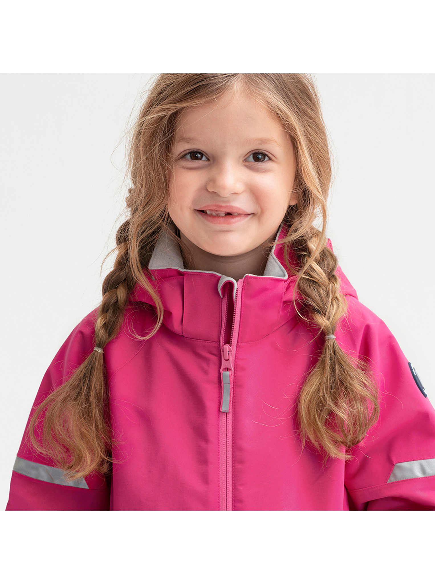 Pink Waterproof Kids Shell Jacket