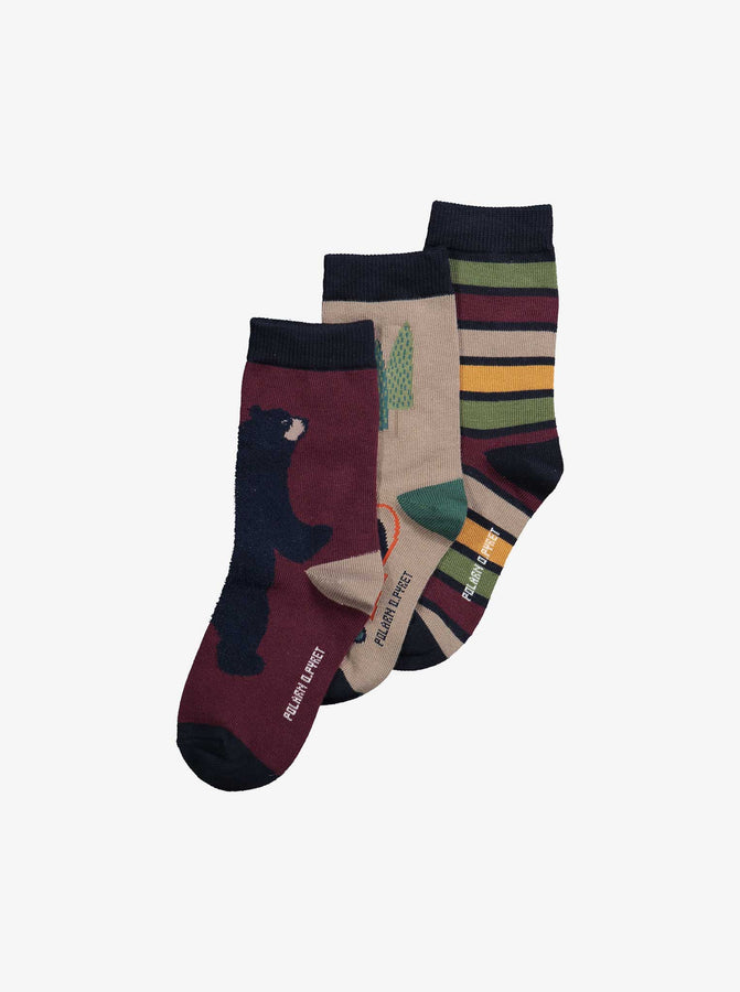 Three Pack Kids Socks
