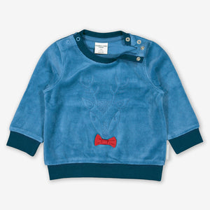 Deer Velour Baby Top