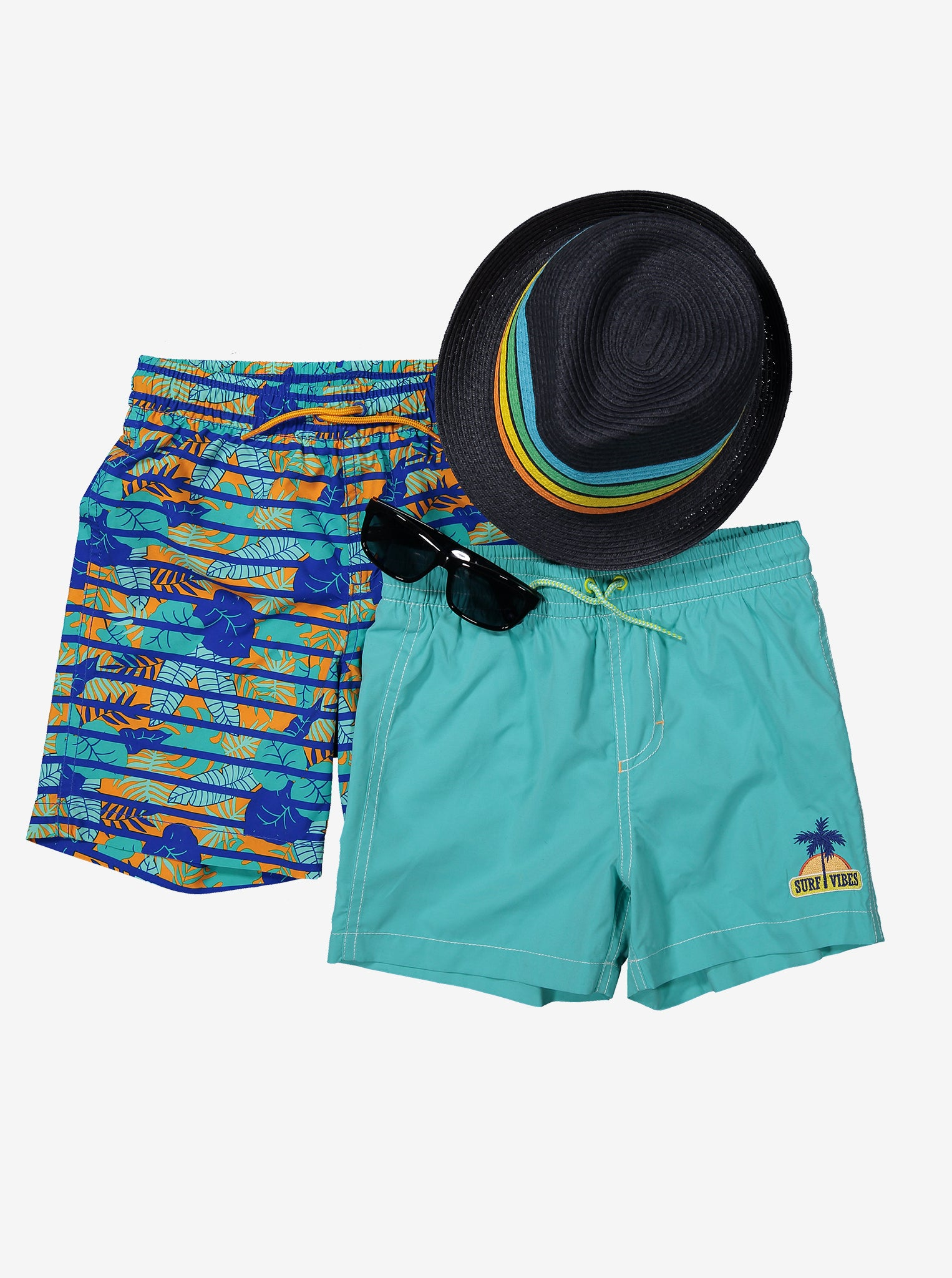 Surf Embroidered Swim Short