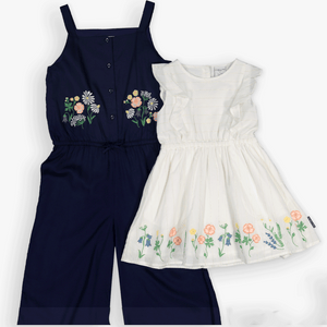 Floral Embroidered Kids Jumpsuit