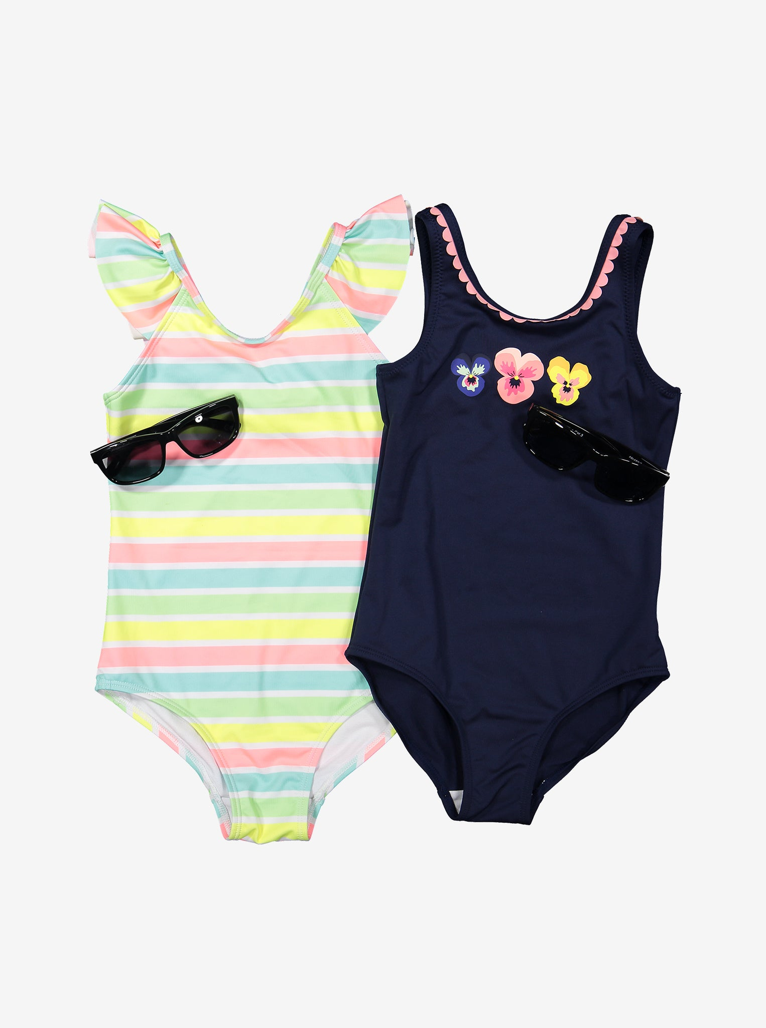 Floral Print Kid Swimsuit