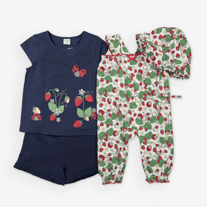 Strawberry Print Kids Top