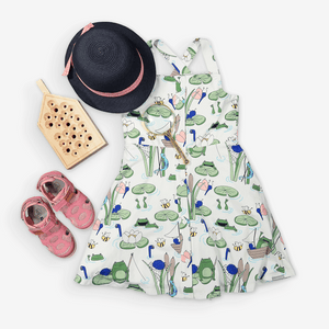 Pond Print Kids Dress