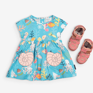Underwater Print Kids Tunic Top