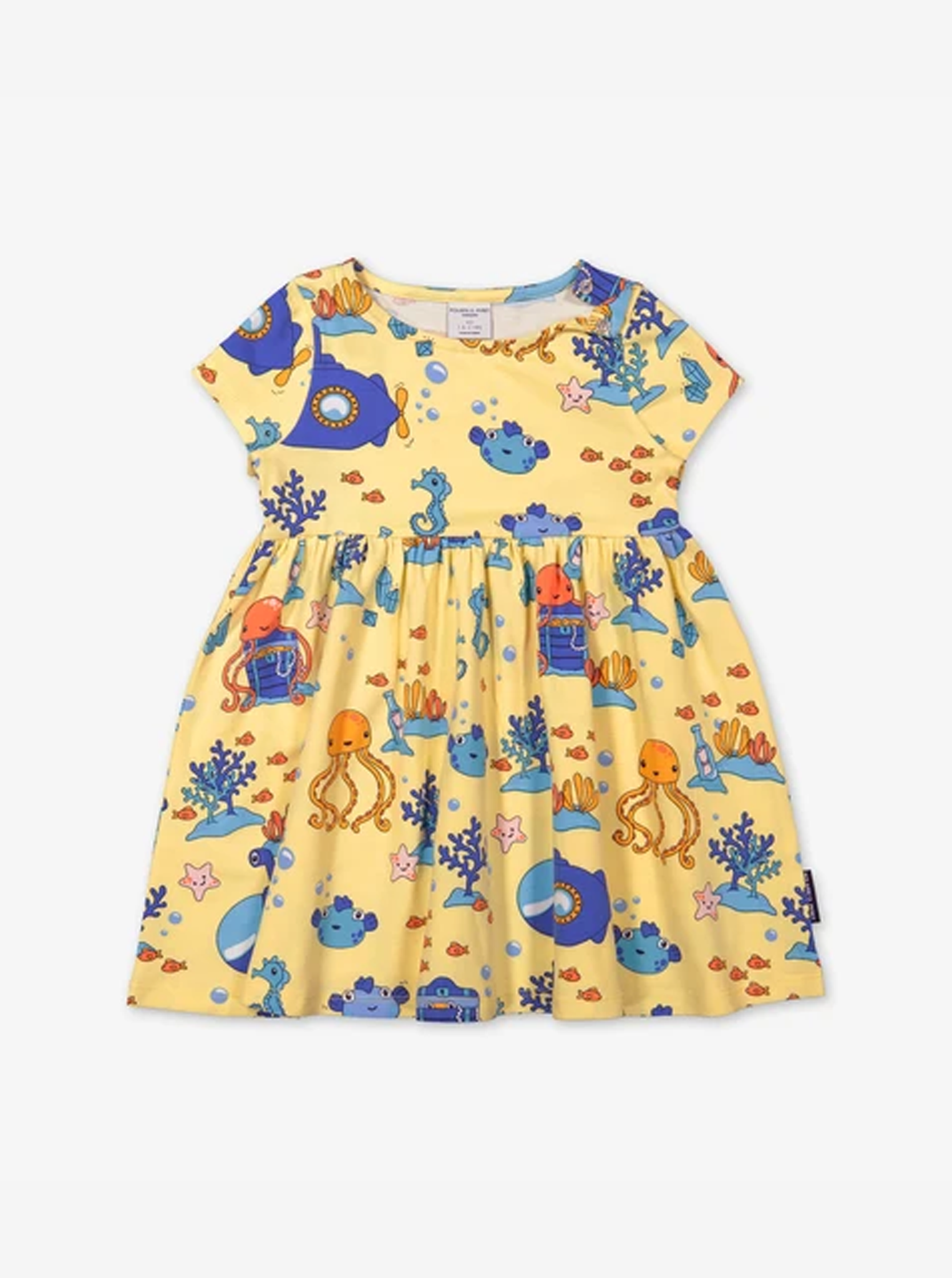 Underwater Print Kids Dress