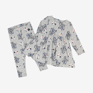 Mistletoe Print Kids Leggings