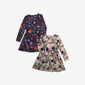 Fawn and Flowers Kids Dress