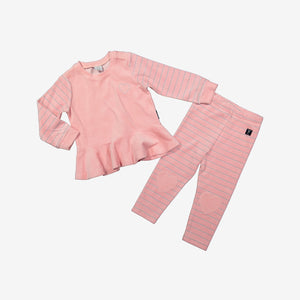 Glitter Stripe Kids velour leggings