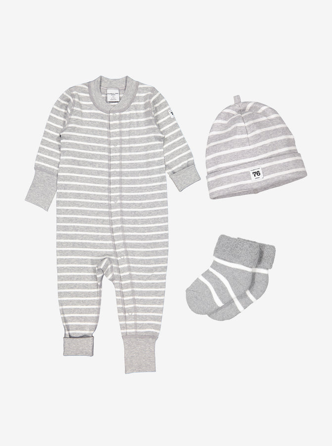 Newborn Sleepsuit, Hat and Socks Gift Set