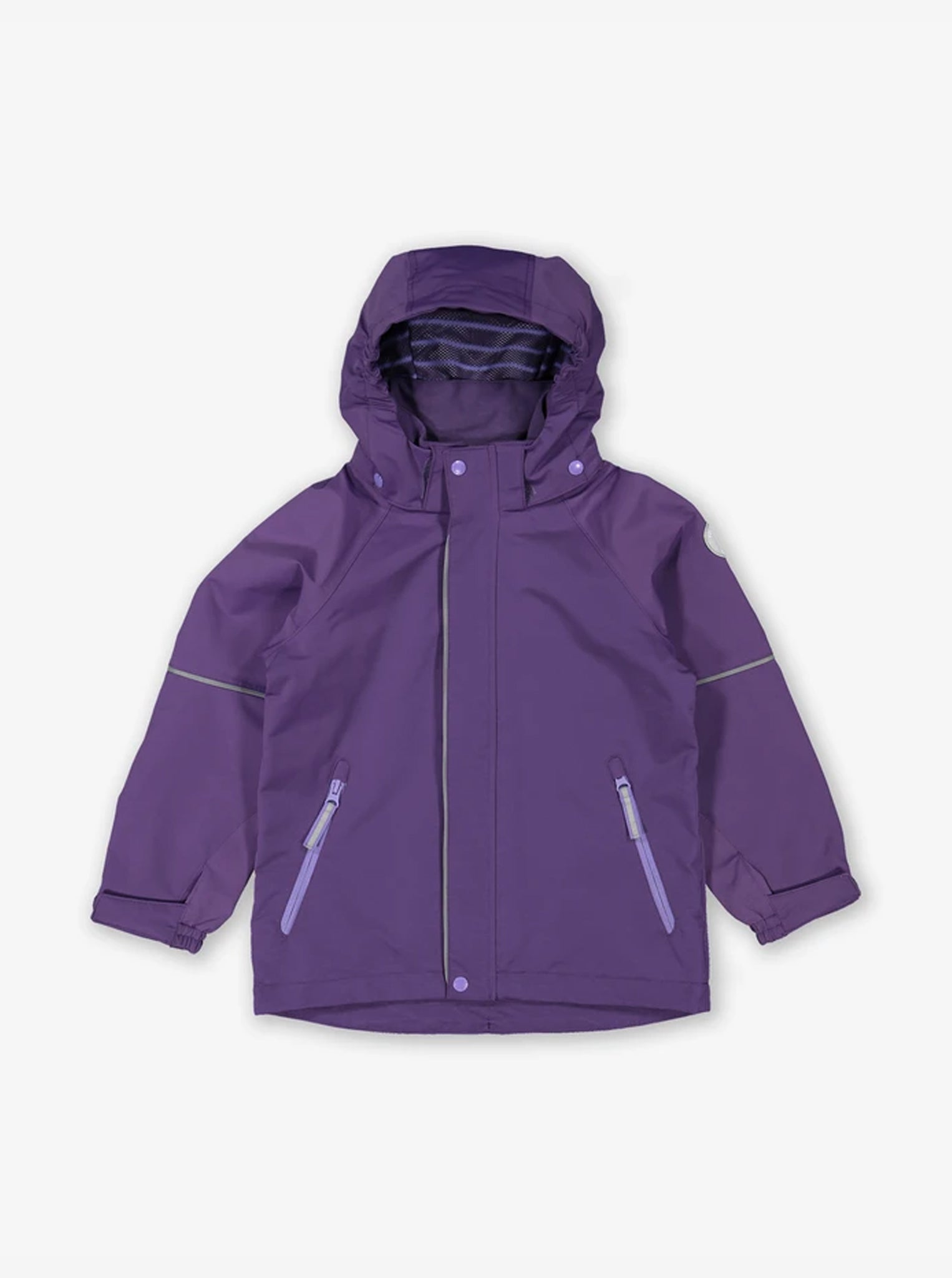 Purple Waterproof Kids Shell Jacket