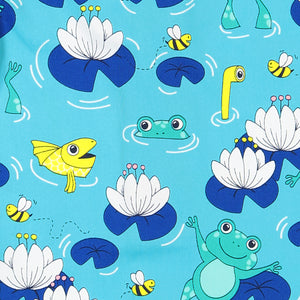 Frog Print Kids Swim Shorts