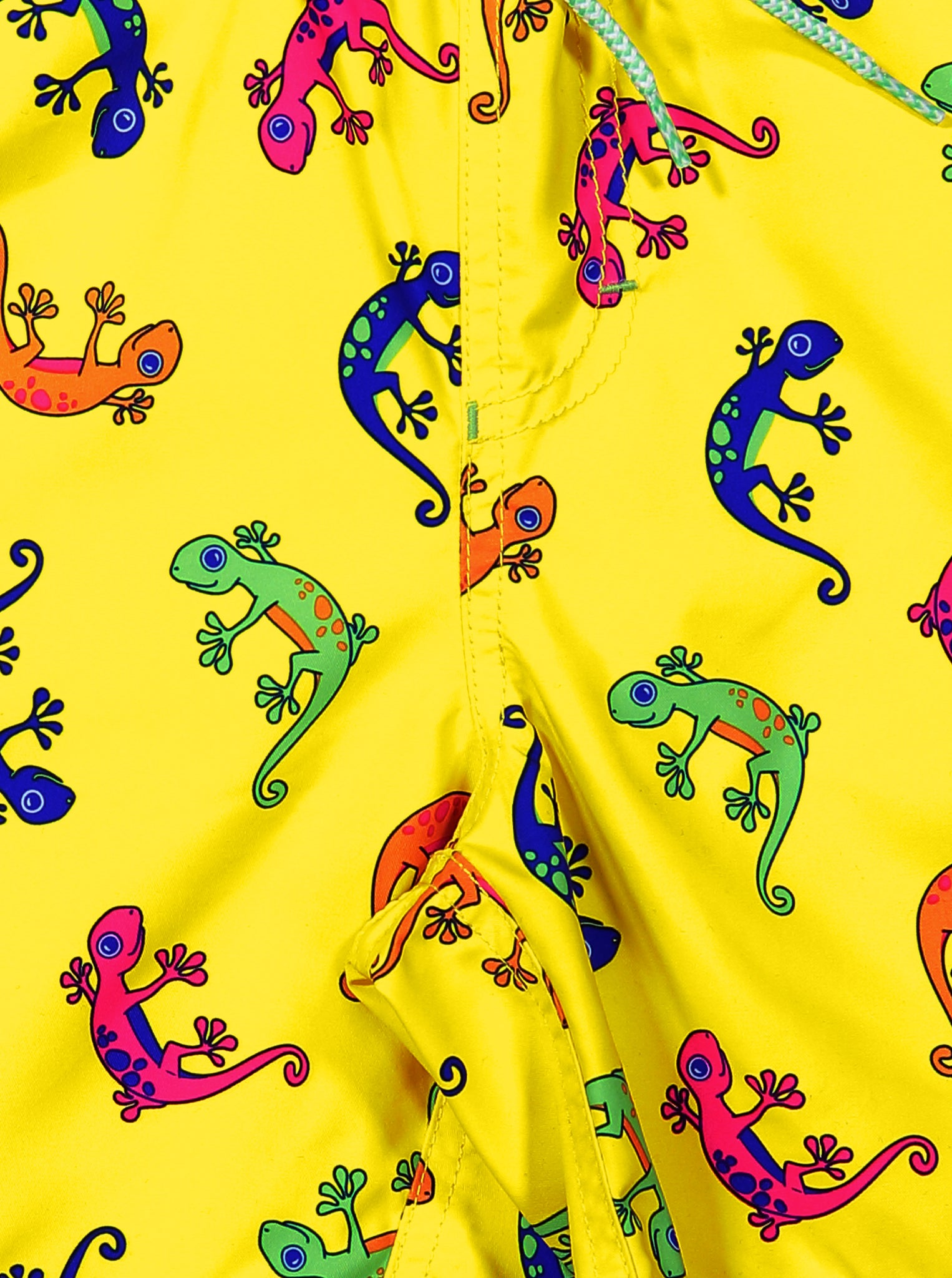 Gecko Print Kids Swim Shorts