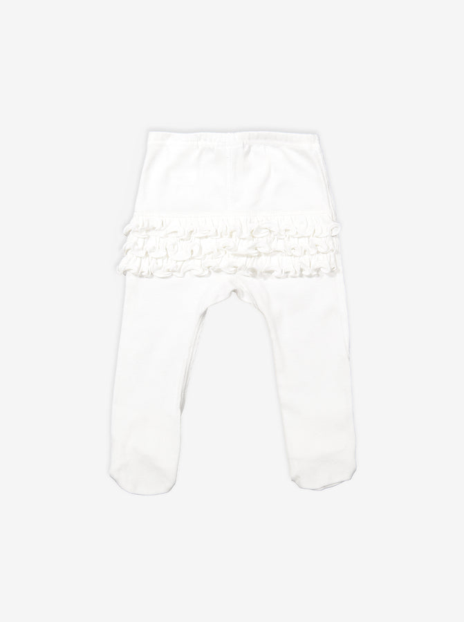 Ruffled Baby Footed Leggings
