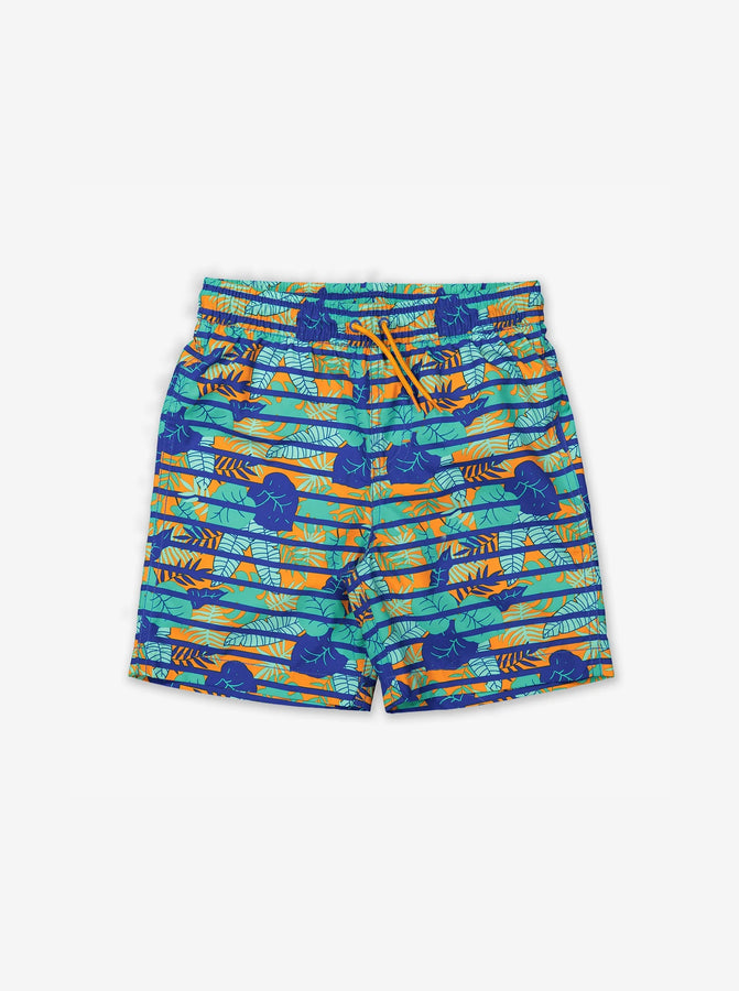 Tropical Print Kids Swim Shorts