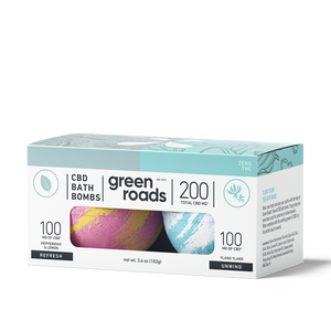 GREEN ROADS - Refresh and Unwind Bath Bombs - 200MG CBD