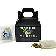 Load image into Gallery viewer, CBD FOR THE PEOPLE - 27% CBD Green Tea Bags