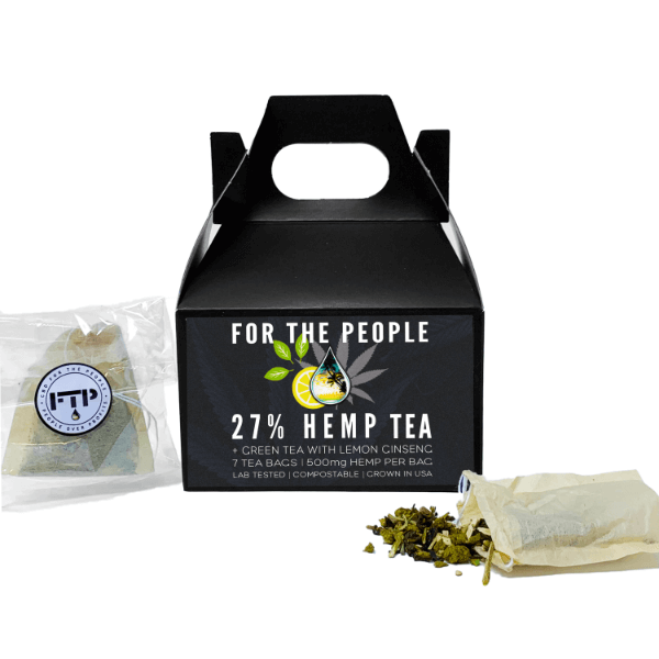 CBD FOR THE PEOPLE - 27% CBD Green Tea Bags