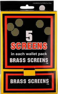 Pipe Screen 3/4 Inch (Brass) - 5 Pack