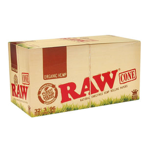 RAW - Organic King Size Pre-Rolled Cones (3-Pack)