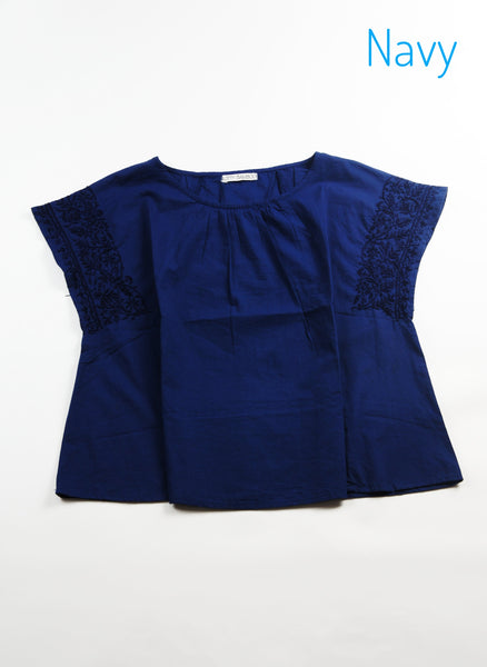 Side Embroidery Top